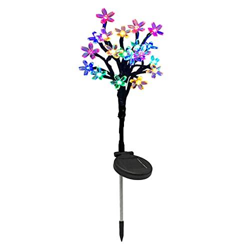 LOVIVER Waterproof Outdoor Solar Garden Stake Lights, Solar Flower Lights, Multi-Color LED Solar Landscape Lights for Garden, Solar Peach Blossom Lights