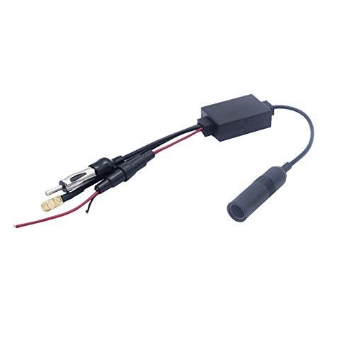 Adaptador divisor de coche DAB Amplificador de antena activo para Radios DAB...