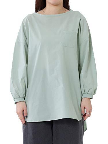 (コーエン) COEN パフ袖ポケットTシャツブラウス(ボリューム袖/袖コンシャス/スモック/ポケT) 76106120076 6100 LIME(61) FREE