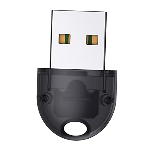 prasku USB Bluetooth 5.0 Transmitter Receiver, Mini Wireless Audio Adapter, Bluetooth AUX Adapter for TV PC Headphones Speakers - Black