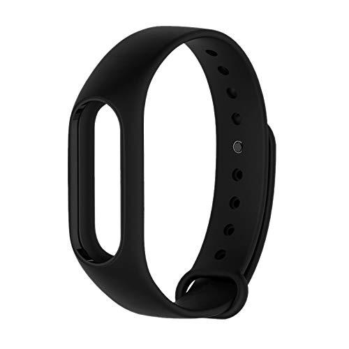 PINHEN Cinturino Compatibile per Xiaomi Mi Band 2 Ricambio - Colorato Silicone Braccialetto Strap di Ricambio per Xiaomi Mi 2 Band Braccialetto (Black)