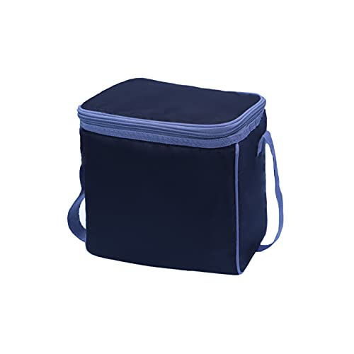 Insulated Leakproof Reusable Lunch Bag for Women&Men,Foldable Cooler Lunch Box with Adjustable Shoulder Strap For Kids/Adult,Durable Tote Bag For Beach/Party/Boating/Office/Fishing/Picnic(Black)