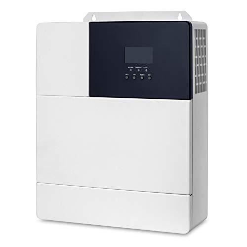 ZBF 3KW / 3.5KW Solar Hybrid Inverter 48VDC 110VAC MPPT Controlador 80A Onda sinusoidal Pura Onda Pura MAX PV Entrada de PV 145V Protección de Circuito Corto (Color : HF4830U80 145)