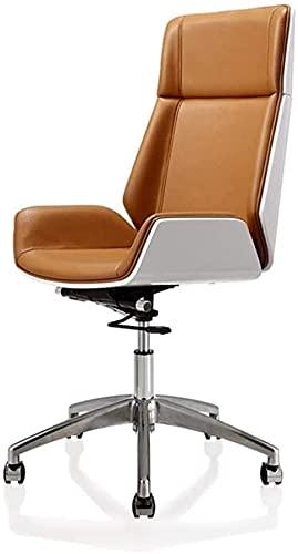 Silla de oficina doméstica Silla giratoria Silla giratoria de cuero - con respaldo de envoltura y silla...