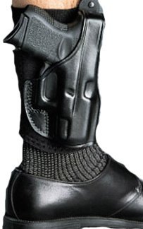 Galco Ankle Glove/Ankle Holster for Walther PPK, PPKS (Black, Right-Hand)