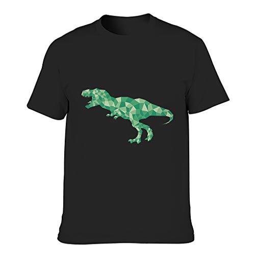 Muerlinanajj Low Poly Art Tyrannosaurus Herren T-ShirtsBaumwolle Tee Mit Modischem Print Tee Extra CoolT-Stücke Black 4XL