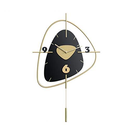 GFDFD Gran Reloj de Pared Americano Reloj de Pared de la Pared Personalidad Arte de la Moda atmósfera Sala de Estar Reloj decoración de Reloj de Silencio (Color : B)