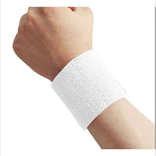 lehao 2 bandas de algodón para el sudor, para deportes, yoga, yoga, sudor, correr, fitness, para deportes, yoga, entrenamiento, correr, color blanco