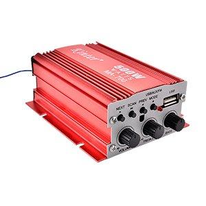 Kinter MA-700 RMS Mini Auto USB FM HiFi Stereo Verstaerker mit Fernbedienung (2 Kanaele, 500 Watt, 2X 30 Watt) Ersatz