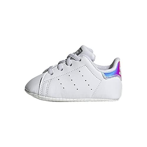 adidas Originals Kids Baby Stan Smith (End Plastic Waste) Sneaker, White/White/Silver Metallic, 3 US Unisex Infant
