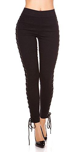 Reizvolle Leggings mit seitlicher Bein-Schnürung L/XL