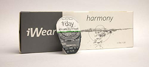 Tageslinsen Weich iWear Harmony BC 8.4 mm/DIA 14.2 / -06.00 Dioptrien — 5 Stück Daily Kontaktlinsen mit Hydrogel Silicone — Contact Lenses