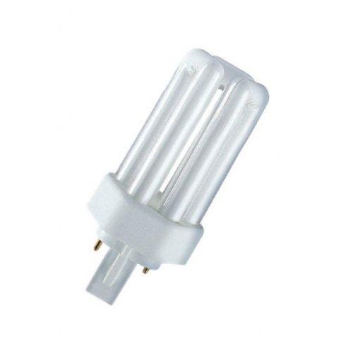 Osram Dulux T - Lote de 10 bombillas (26 W, 827 Plus, 2 pines, GX24d-3, 139 mm), color blanco