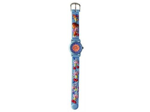 Baby Watch–Zeigt Kinder pädagogische–Unisex–Tiny Pädagogische Dora–Armband Kunststoff Radierer blau mit Figuren–mit Lehrbuch auf Englisch