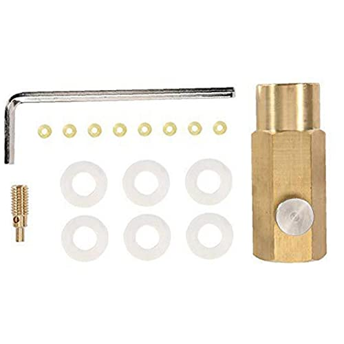 Soda flujo de CO2 Cilindro de recarga adaptador de válvula Conector para Soda fabricante del tanque accesorios, hardware del adaptador toolsCO2