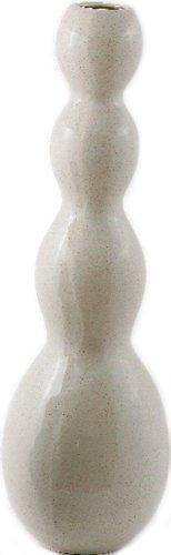 Vase Haut Irrégulière 57 X H 17 Céramique Blanc