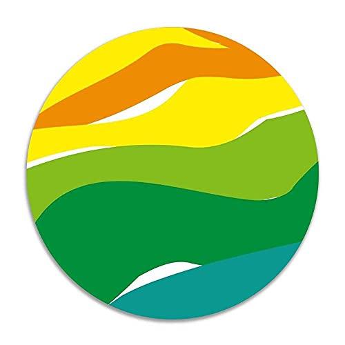 Sieben farbige gemischte Farben Anti-Rutsch-Korallensamt Runde Teppiche Memory Foam Bodenteppiche Matten Durchmesser Schlafzimmer Teppich Yoga Stuhl Matte Fußmatte