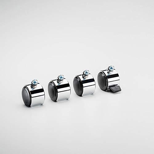 Swissmobilia Set (4 Stück) Lenkrolle für USM Haller, 1 Stück mit Arretierung, schwarz