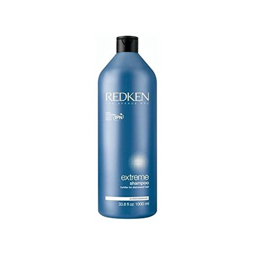 ありがたいデータベーススリチンモイレッドケン極端なシャンプー千ミリリットル x4 - Redken Extreme Shampoo 1000ml (Pack of 4) [並行輸入品]