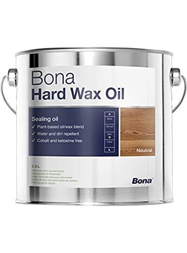 Bona Hard Wachs Öl 2,5 L semigloss und matt fertig Ölgemälde für schutz über parkett möbel etc. - Semigloss