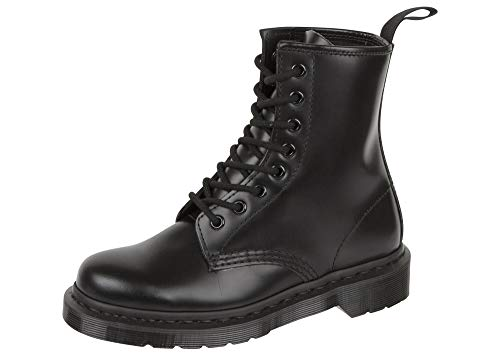 Dr. Martens 1460 MONO Smooth BLACK, Unisex-Erwachsene Combat Boots, Schwarz (Black), 39 EU (6 Erwachsene UK)