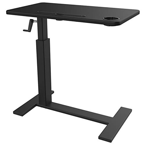 Balee Adjustable Overbed Table Bed Side Table Desk Non-tilt Over The Bed Laptop Table with Wheels for Home or Office Use
