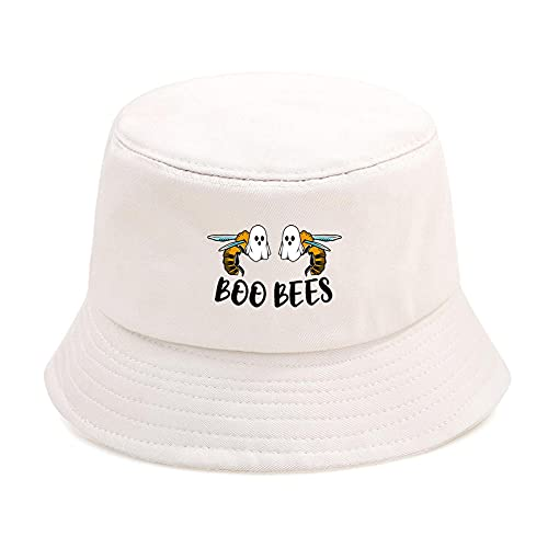YDXC Cube Cap Boo Bees Ghost Print Hip Hop Casual Fisherman's Hat Outdoor Fold Women Men Caps Sunscreen Beach Sun Caps Se Aplican A Correr Viajes Etc.Beige6_One_Size