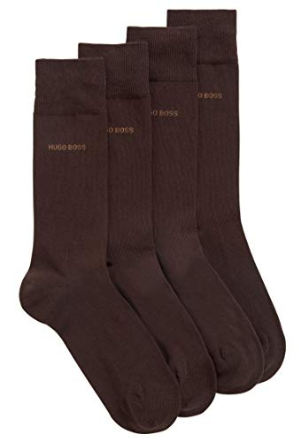 BOSS RS Uni CC Calcetines, Marrón (Dark Brown 206), 39/42 (Talla del fabricante: 39-42) (Pack de 2) para Hombre
