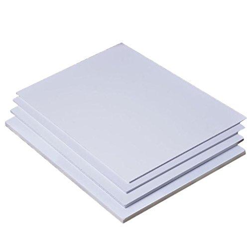 Unbekannt 5er Set Kunststoffplatten Bastelplatte Für Modellbau Basteln - 200 mm x 300 mm x 2 mm