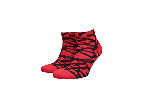 Jordan Unisex Nike Elephant Print Jumpman Quarter Socks-University Red-Medium