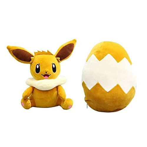 30cm Anime Pokemon Eevee fylld plyschleksak Söt Fox Elf plyschdocka Omsättning kan förvandlas ägg roliga gåvor för barn barn gåvor
