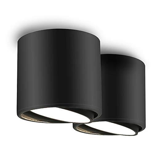 BAGZY LED Downlight Foco Redondo Ángulo Ajustable COB Montado en Superficie Lámpara...