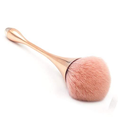 Zidao Pinceau de Maquillage Kabuki Brush Cosmetic Brush - Fond de Teint - Idéal pour Les Fonds de Teint crémeux, poudreux ou Liquide - Brosse synthétique de qualité supérieure pour Cheveux,Marron