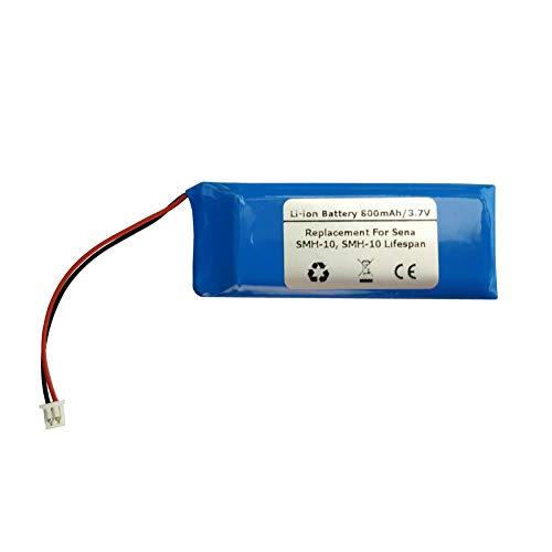 Batería de 3,7 V 800 mAh para Sena SMH-10 SMH-10, auriculares Bluetooth con vida útil de interfono para casco, modelo de batería: 1ICP52/248P