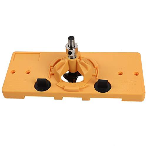 Betos Juego de herramientas abridor de agujeros accesorios 35MM taza estilo bisagra jig oculta 35mm carpintería universal localizador de acero inoxidable