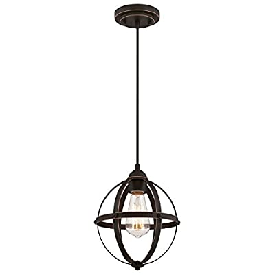 Westinghouse Lighting 6361900 Stella Mira One-Light Mini, Oil Rubbed Bronze Finish with Highlights Indoor Pendant