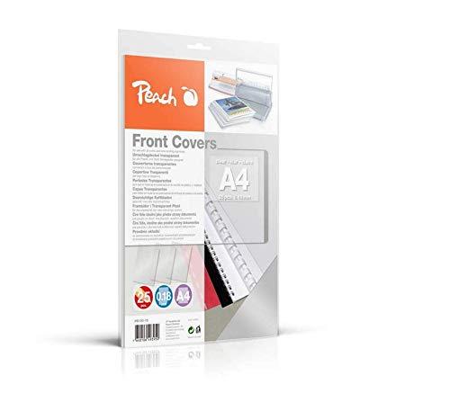 Peach PB100-15 Klarsicht Deckblätter transparent, 0.18 mm, A4, 25 Blatt, farblos