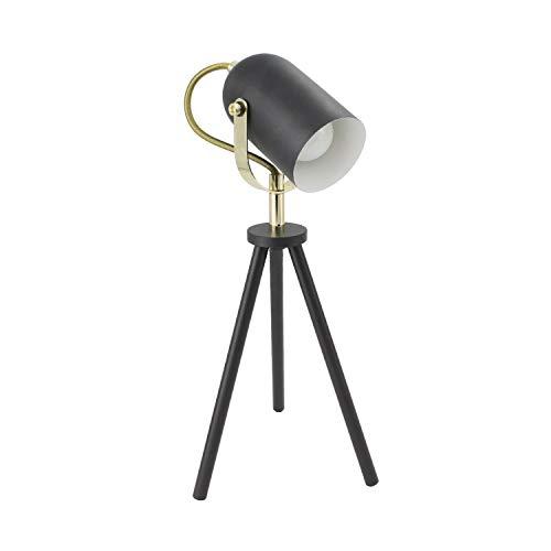 LEDKIA LIGHTING Zwarte verstelbare Cano tripod lamp Zwart