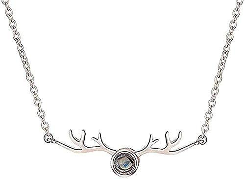 ZGYFJCH Co.,ltd Collar 100 Idiomas Diferentes Collar I Love You Collar Personalizado Po Collar de proyección Collar de Promesa