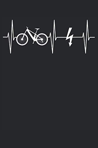 E-Bike E-Fahrrad Fahrrad Herzschlag Linie Geschenk Notizbuch (Taschenbuch DIN A 5 Format Liniert): Elektro Fahrrad Notizbuch, Notizheft, Schreibheft, ... die gerne Ebike und Elektro Fahrrad fahren.
