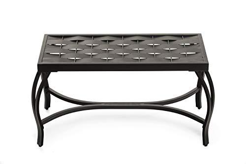 Mango Steam Weave Bench (Bronzed Black)