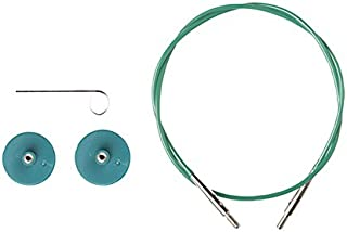 Options Interchangeable Circular Knitting Needle Cables - Green Cables (40