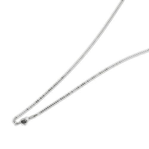 [ルビイ] プラチナ Pt850 2面カット喜平 チェーン ネックレス 幅2.5mm 長さ60cm