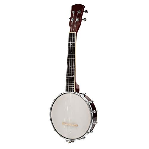LAGRIMA 4 String Concert 24.5 Inch Banjo Uke Ukulele Banjo