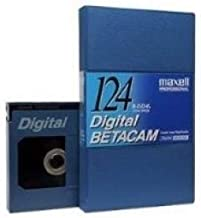 Box of 10 Maxell BD-124L Digital Betacam Video Tape, 124 Minute, Large
