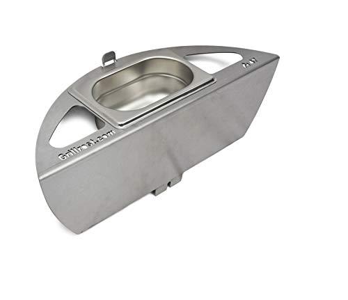 Grillrost.com Das Original Kugelsmoker für Ø 47er Kugelgrills - Mach aus deinem Kugelgrill einen Smoker! Low & Slow BBQ wie vom Profi! (Ø 47cm)