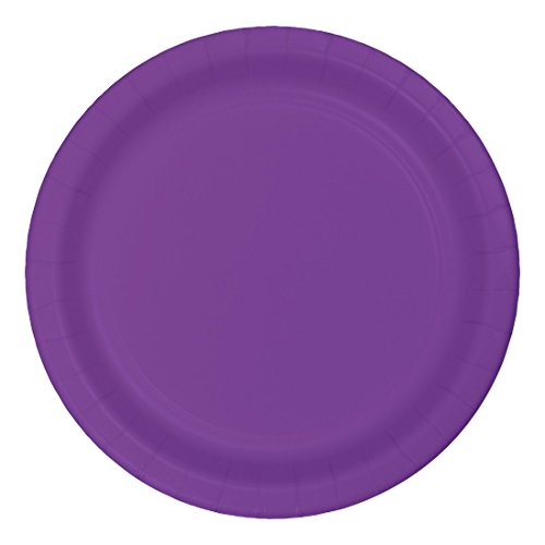 Creative Converting Party Supplies Touch of Color 24-Count 10-Inch Paper Banquet Plate, Amethyst