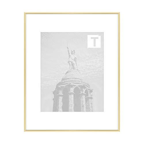 Aluminium-Bilderrahmen Anita Gold 29,7 × 42 cm A3 Echtglas klar 2mm hochwertig robust Galerie