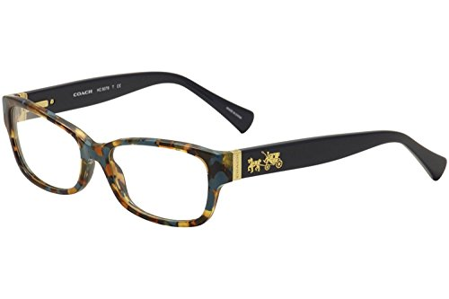 Coach Women's HC6078 Eyeglasses, Teal Confetti/Teal, 52/16/135
