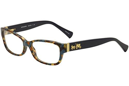 Coach Women's HC6078 Eyeglasses, Teal Confetti/Teal,...
